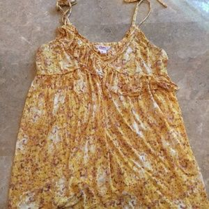 NWT Yellow strappy tank top